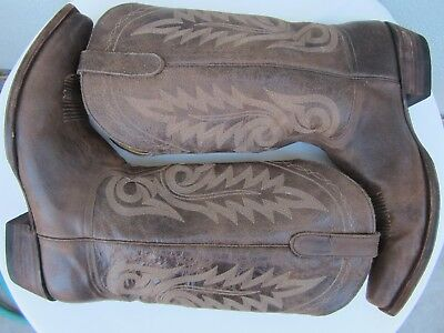 OLD GRINGO NEVADA LEATHER Western COWBOY BOOTS Shoes SIZE 12 1/2 12.5 Chocolate