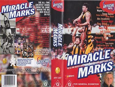 Afl Miracle Marks   Video Vhs Pal A Rare Find