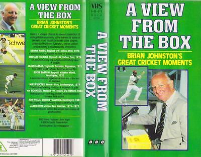 Cricket A View From The Box Brian Johnstons  Vhs Video Pal A Rare Find