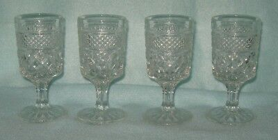 Anchor Hocking Wexford 4 Cordial Goblets 2 Ounce