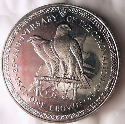 1979 ISLE OF MAN CROWN - Coronation 25th - AU/UNC - Low Mintage Coin - Lot 115