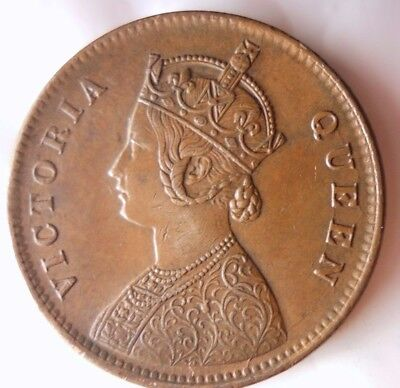 1862 BRITISH INDIA 1/4 ANNA - AU - Awesome Vintage Coin - Lot #116