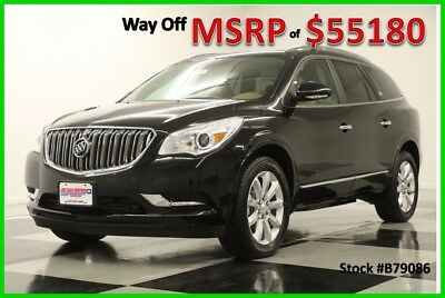 2017 Buick Enclave MSRP$55180 AWD Premium DVD GPS Sunroof Black New 17 Player Heated Cooled Leather Ebony Twilight Metallic Dual Moonroof