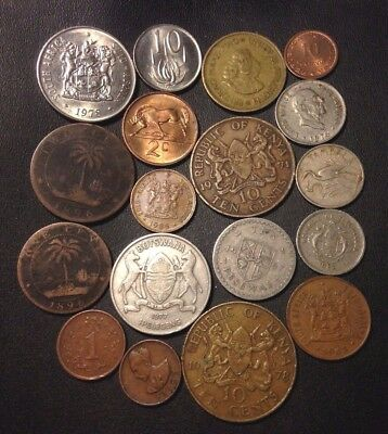 Old Africa Coin Lot - 1896-Present - 19 Great Coins - Lot #116