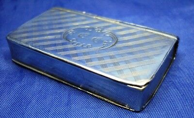 VERY RARE EARLY SOLID SILVER VESTA CASE BY NATHANIEL MiILLS BIRMINGHAM 1846
