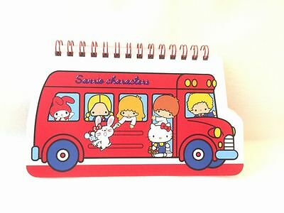 Sanrio Characters spiral notebook 70's red bus