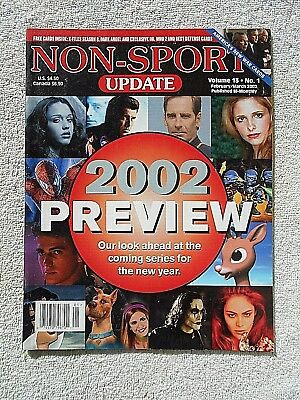 Mar/Feb 2002 Non-Sport Update Magazine Preview Cover Vol. 13 #1 VF-