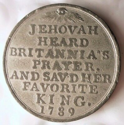 1789 GREAT BRITAIN - King George III - JEHOVAH PRAYER FOR THE KING - RARE - #116