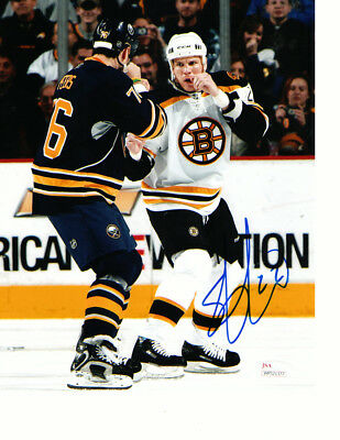 Shawn Thornton Boston Bruins Autographed Signed 8X10 Photo w/coa JSA.'
