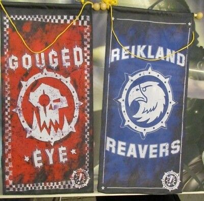Warhammer Blood Bowl Football Gouged Eye Reikland Reavers Fabric Banners