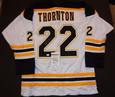 Shawn Thornton Boston Bruins Autographed Signed White Style Jersey XL coa JSA,