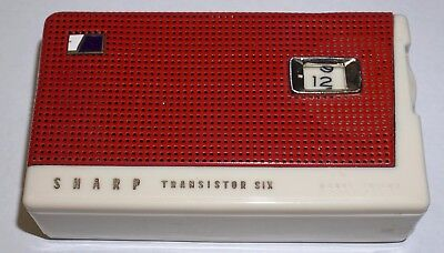 Vintage Sharp Continental TR-182 AM Transistor Radio with Leather Case - WORKS!