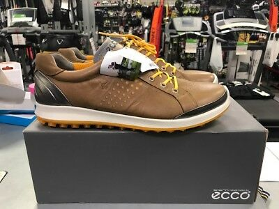 New in Box Ecco Biom Hybrid 2 Golf Shoes EU 45 US 11-11.5 Camel/Fanta
