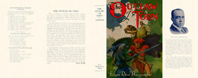 Burroughs, Edgar Rice. THE OUTLAW OF TORN facsimile dust jacket 1st McClurg ed
