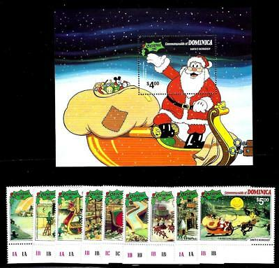 1¢ Wonder's ~ Dominica (Mnh) W/ Christmas 1981 Disney Set + Souvenir Sheet ~Tr38