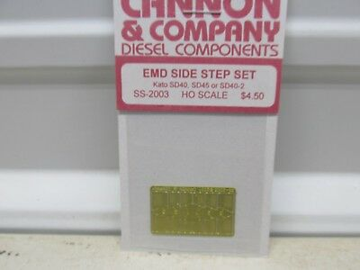 Cannon ~ Emd Side Step Set For Kato Sd40, Sd45 Or Sd40-2 ~Lot A ~Ho Scale