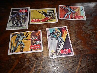 Lot Of 5 Topps Batman Puzzle Backs Trading Cards #40a Circa 1960's