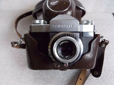 vintage CONTAFLEX camera w. CASE & STRAP 45MM PANTAR LENS made in GERMANY Zeiss