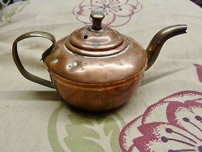 lovely miniature copper kettle made by elpec cira 1930s copper and brass kettle