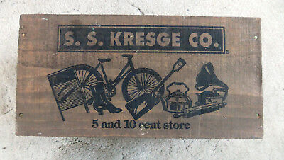 Old Vintage Ss Kresge 5 And 10 Cent Store Wood Box Crate
