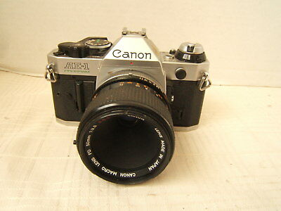 CANON AE-1 PROGRAM CAMERA CANON LENS 50MM f=3.5