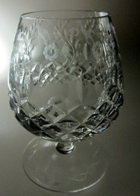 "Rogaska Gallia   Brandy Glass 5 1/4"" Tall"