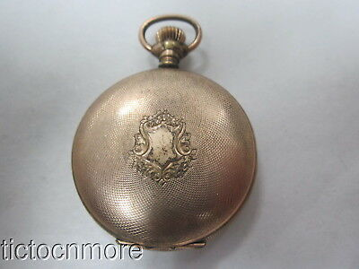 Antique Ny Standard Railroad Dial Side-Wind Pin Set Hunters Case Pocket Watch