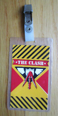 The Clash Know Your Rights Combat Rock Tour Hotel Bag Check Tag Laminate 1982