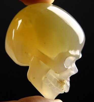"2.0"" AGATE Carved Crystal Skull, Realistic, Crystal Healing"