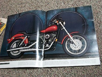 Harley Davidson 1999 Dealer Brochure Large 2 Page Photos With Specifications