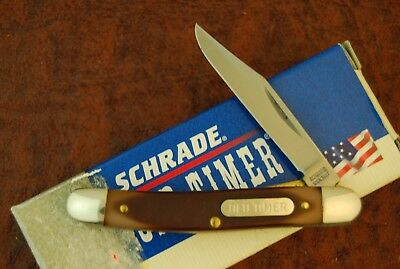 Schrade Made In Usa Old Timer Sawcut Delrin Linerlock Pen Knife 18Ot Nice (2554)