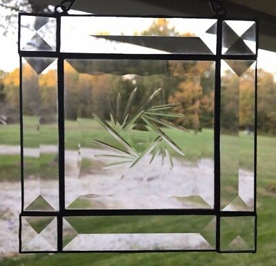 Beveled Stained Glass Mission Style Panel - Small