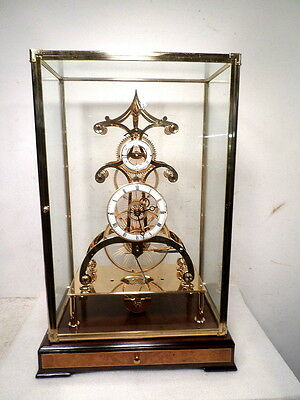 Etched Glass Gear Skeleton Clock--An Absolutely Beautiful Fusee Skeleton Clock