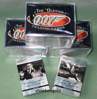JAMES BOND 007, The Quotable Trading Card Set, 2004 Rittenhouse Archives, Mint