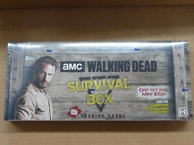 2016 Topps THE WALKING DEAD SURVIVAL BOX FACTORY SEALED HOBBY BOX 4 MINI BOXES
