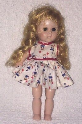 VTG VOGUE GINNY DOLL NEEDS TLC. with VOGUE TAGGED DRESS NICE