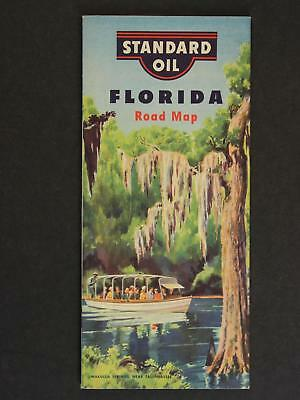 1950 FLORIDA ROAD MAP produced by STANDARD OIL