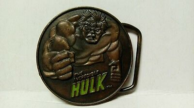 Vintage 1979 The Incredible Hulk Marvel Superhero Belt Buckle Lee Co.