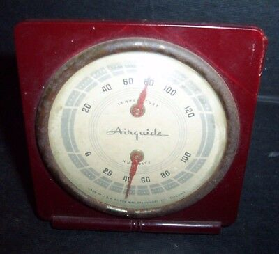 Vintage Airguide Relative Humidity & Temperature Gauge ~ Fee & Stemwedel Chicago