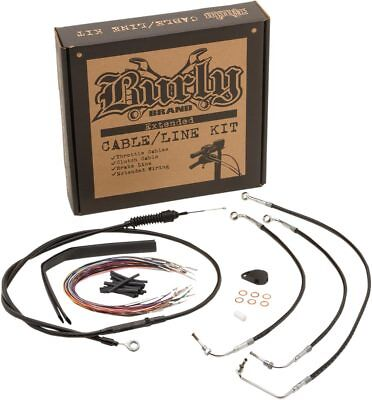 """Burly Brand Control Kit Black 14-15 Harley FLH 13"""" Bagger Apes Non-ABS B30-1113"""