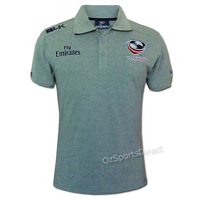 USA Rugby Union Leisure Polo - Grey - SMALL