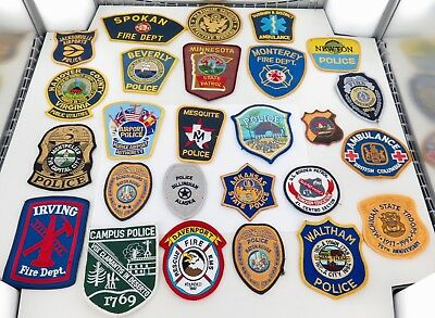 Superb Job Lot Usa / American Fire Dept, Firefighting Cloth Patches. #7