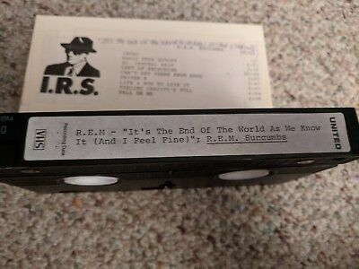 "R.e.m ""succumbs"" + ""it's The End Of The World As We Know It"" On Vhs"