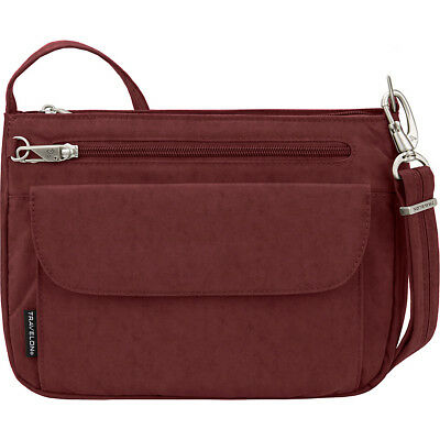 Travelon Anti-Theft Essential Crinkle East/West Cross-Body Bag NEW