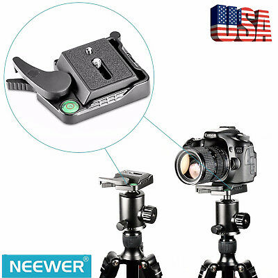 "Neewer Black Quick Release QR Plate Adapter with 1/4"" Screw for DSLR Camera USA"