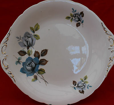 Royal Standard  Blue Rose Cake Plate - A Beautiful Item In Lovely Condition!
