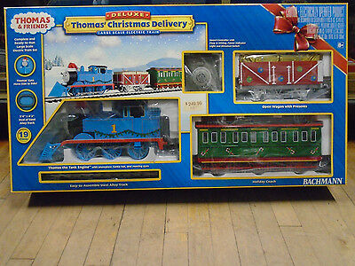 Bachmann G Scale COMPLETE Train Set Thomas The Tank Christmas Delivery 90087