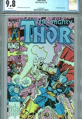 Thor #339 CGC 9.8 Beta Ray Bill App Marvel Comics 1984