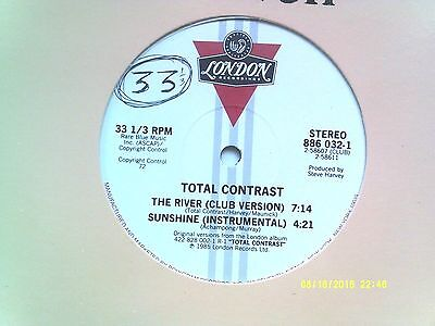 "Total Contrast The River 12"" Single 1985 N/mint"