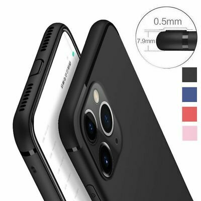 For iPhone 11 Pro Max XS XR X 8 7 Ultra Slim Matte Silicone Rubber Case Cover